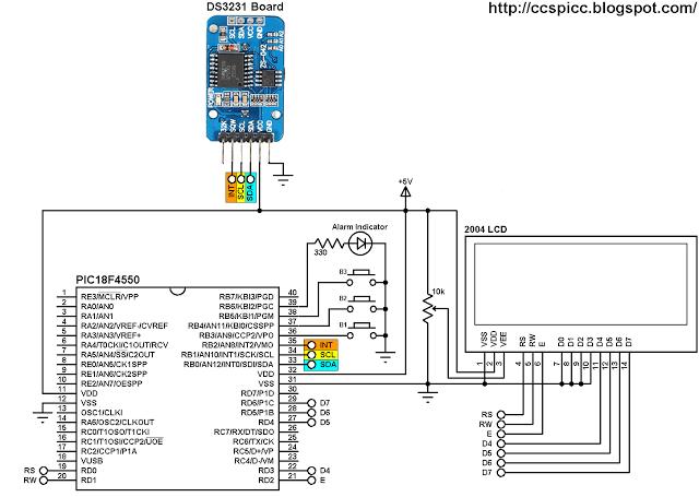 real time clock circuit diagram