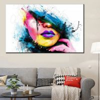 MODERN ABSTRACT CANVAS Wall Art Painted Oil Painting Of a ...