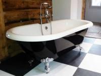 Freistehende Badewanne Carlton black aus Acryl - schwarz ...