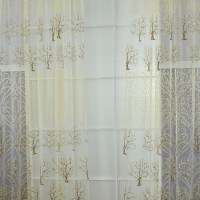 Valances Tree Printed Tulle Voile Door Window Curtain