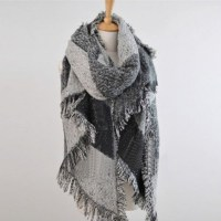 Women's Thick Large Cashmere Stole Scarves Winter Warm ...