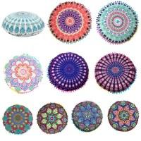 Indian Mandala Floor Pillows Round Bohemian Cushion ...