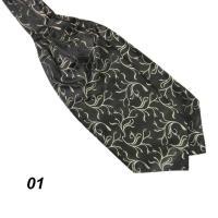 Mens Trendy Ascot Tie Cravat Neck Tie Satin Scarf Party ...