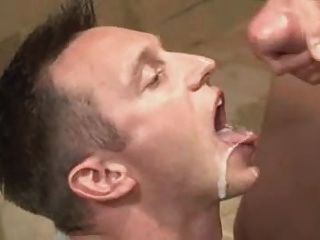 leather gay cum eating