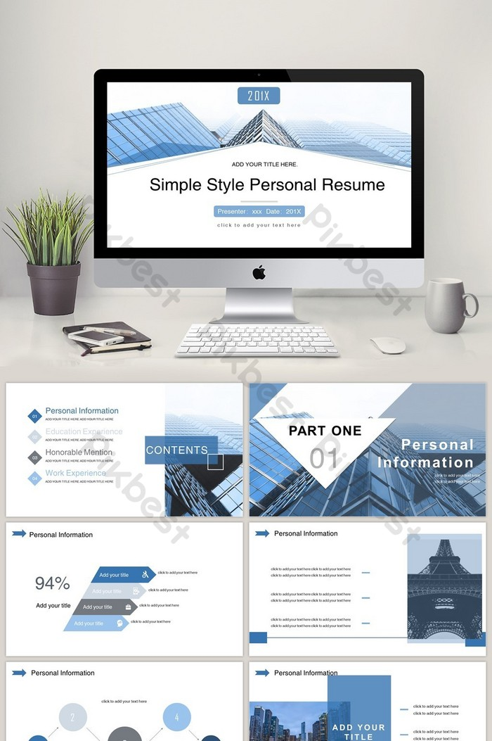 template cv minimaliste ppt