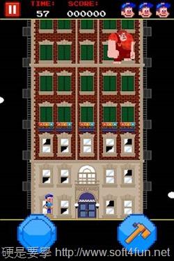經典懷舊的 8-bit 復古小遊戲:Fix-it Felix Jr. (iPhone iPad)