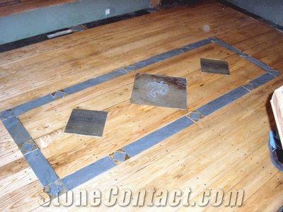 Cozy Bluestone Tile With Hardwood Flooring Pennsy Lvania Blue Stone