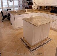 Granite Countertops, Travertine Floor, Kitchen Des from ...