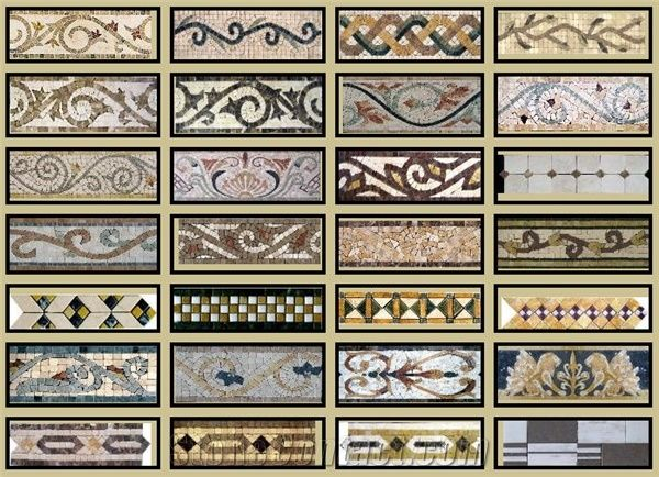 Marble Mosaic Borders From United States 74991   StoneContact   Mosaik  Bordre
