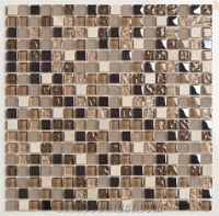 Glass Mosaic Tiles, Crystal Glass ,Emperador Light Brown ...