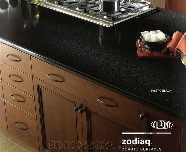 Zodiaq Quartz Surfaces Mystic Black Countertop From Canada