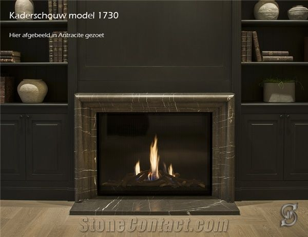 Anthracite Black Marble Fireplace Surround From Belgium