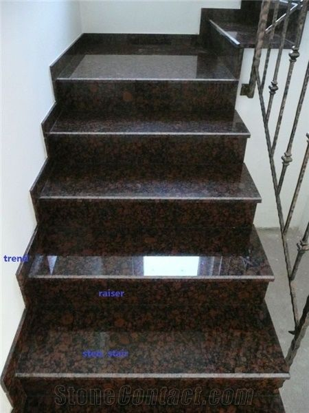 Marche Exterieur Tan Brown Granite Steps From China - Stonecontact.com