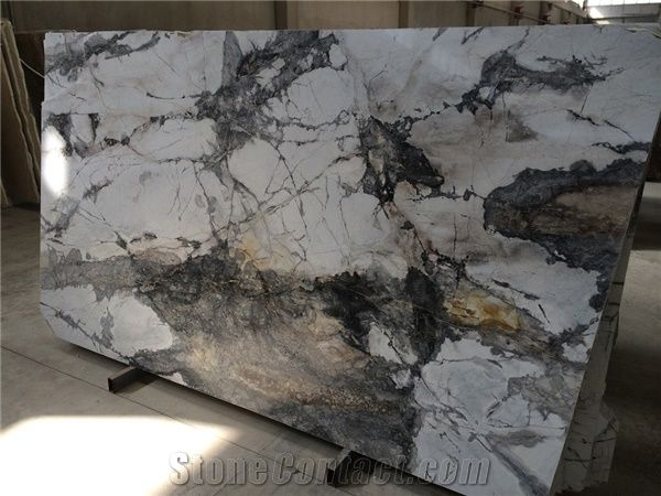 Cocinas Online Iceberg - White Grey Marble Slabs Tiles From Turkey