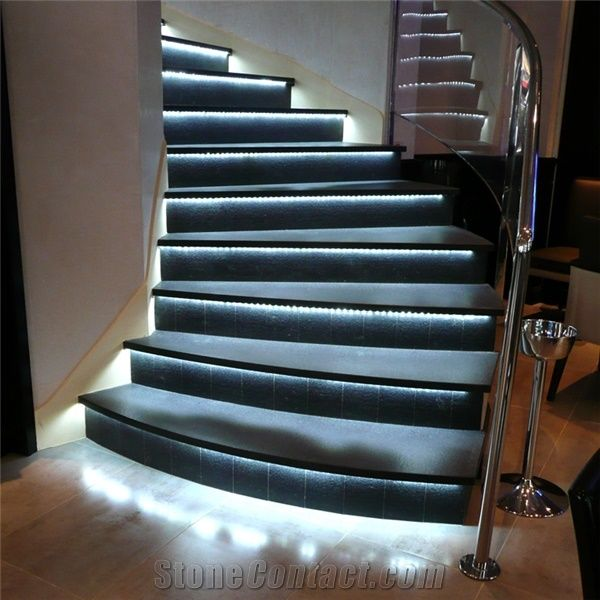 Eclairage Exterieur Enterré Zimbabwe Black Granite Staircase From France