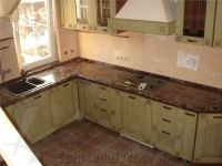 Emperador Dark Marble Kitchen Countertop from Russian ...