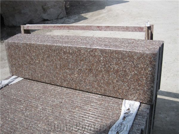 G687 Peach Red Granite Stairs Steps From China 318055