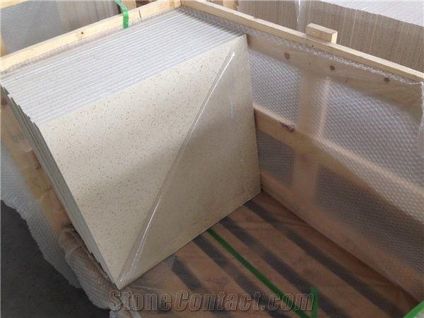 Quartz Surfaces Floor Tile Cut To Size With Higher