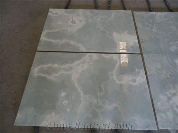 Composite China White Onyx Slabs And Tiles Artificial