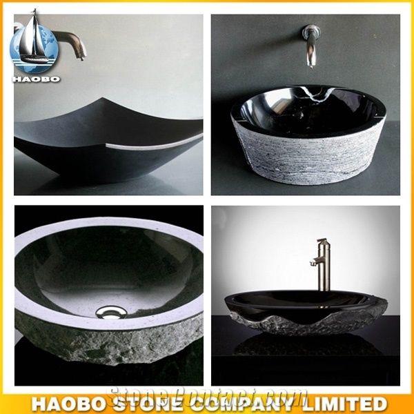 Natural Stone Above Counter Sink Granite Bathroom Sink