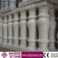 Prefabricated Balcony Yellow Stone Balustrades Handrails ...