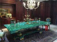 Green Malachite Price Dining Table Top Backlit Green Stone ...