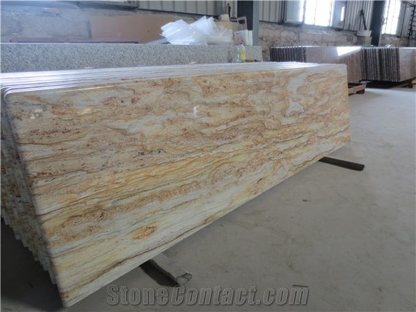 Yellow River Granite Kitchen Countertops Golden River