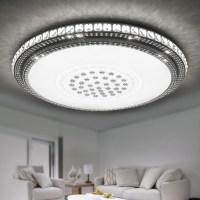 36W LED Kristall Deckenleuchte Rund Wohnzimmer Flurleuchte ...