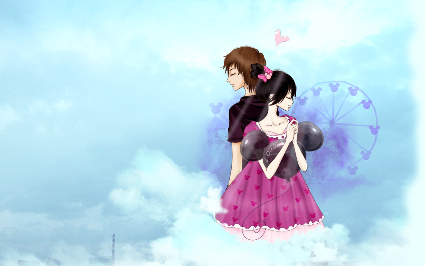 Cute Animated Dolls Wallpapers 温馨卡通情侣桌面壁纸大全 温馨卡通情侣桌面壁纸大全专辑下载 找素材网