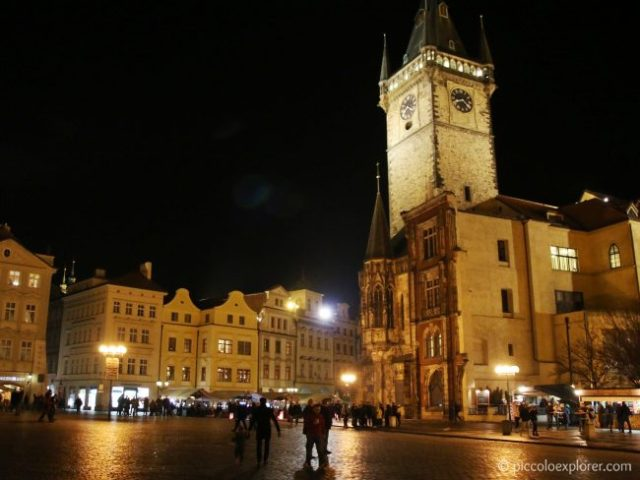 Old Town Prague at night