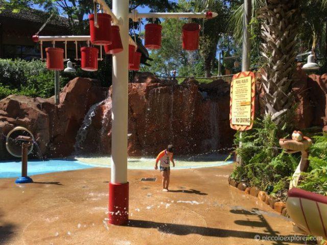 Kid's Pool area at Kidani Village, Animal Kingdom Lodge, Walt Disney World, Florida