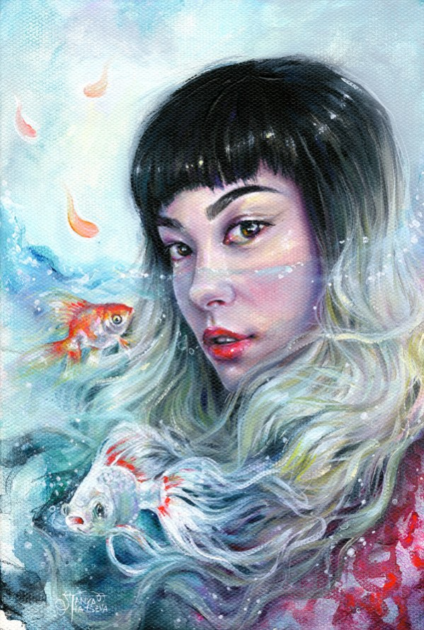 Wallpaper Drawing Girl Tanya Shatseva Picdit