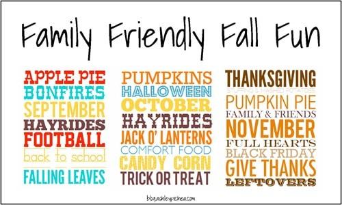 Family Friendly Fall Fun