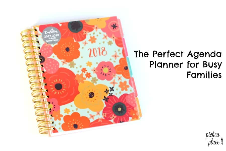 The Perfect Family Planner for a Busy Family 18-month Agenda Planner - family agenda
