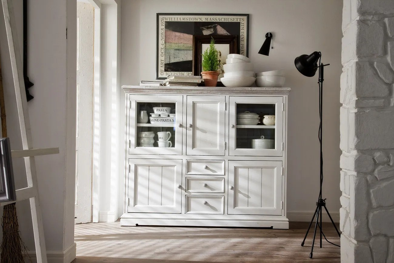 Sessel Antik Look Highboard Opus Landhausstil Weiss In Recycle Kiefer Pick