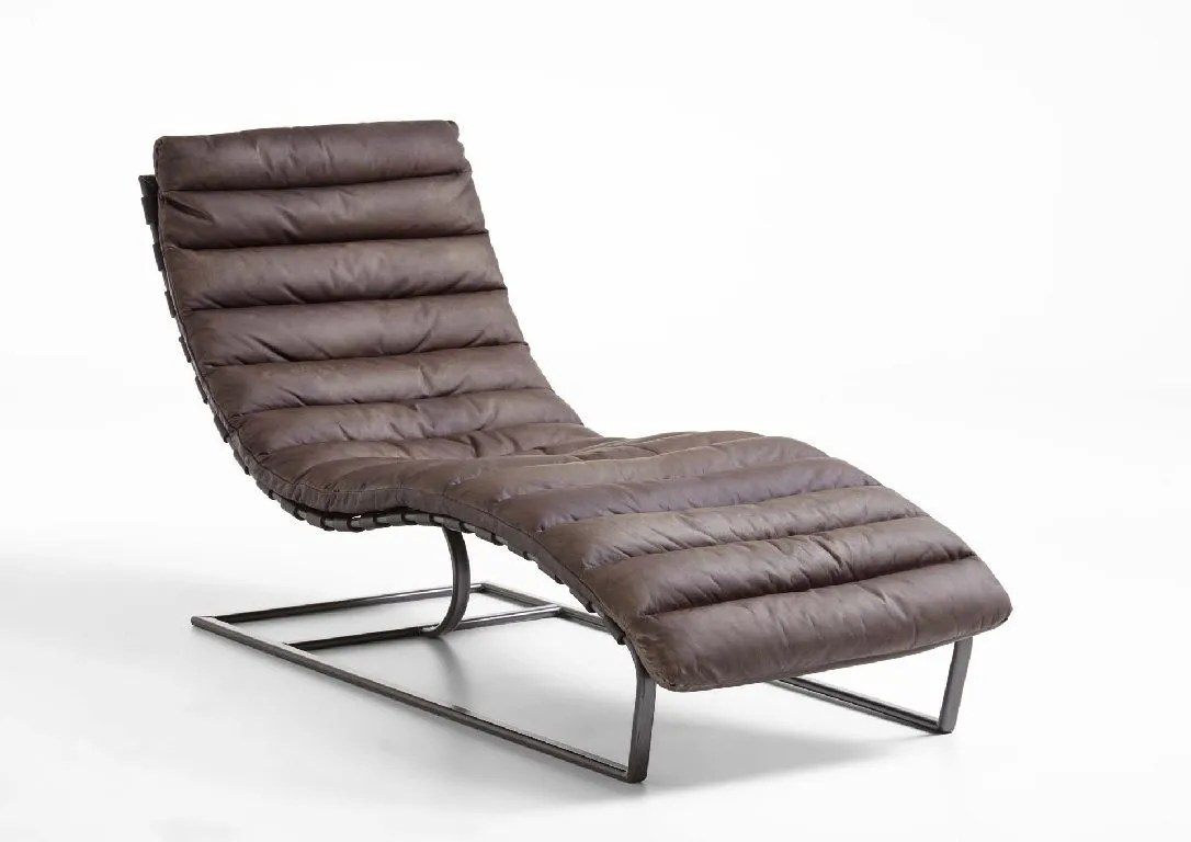 Lounge Liege William Loungechair Echt Leder Vintage Relaxliege Pick Up Möbel