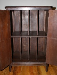 Antique Record Cabinet  Solid Mahogany | Picked Vintage