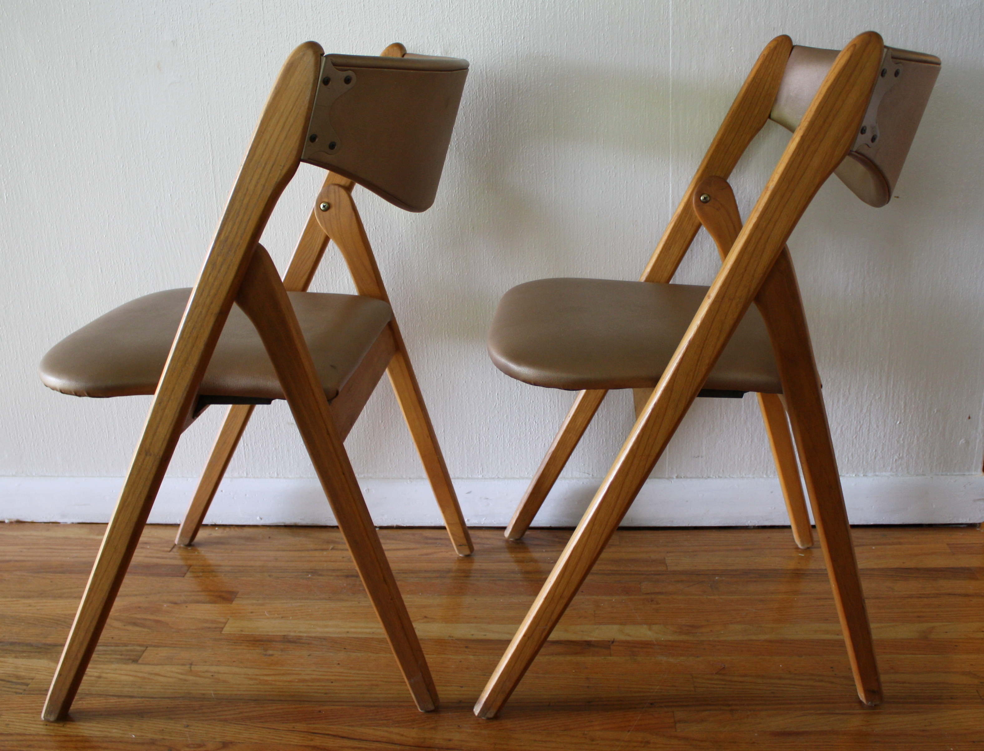 Chairs Folding Mid Century Modern Coronet Folding Chairs Picked Vintage