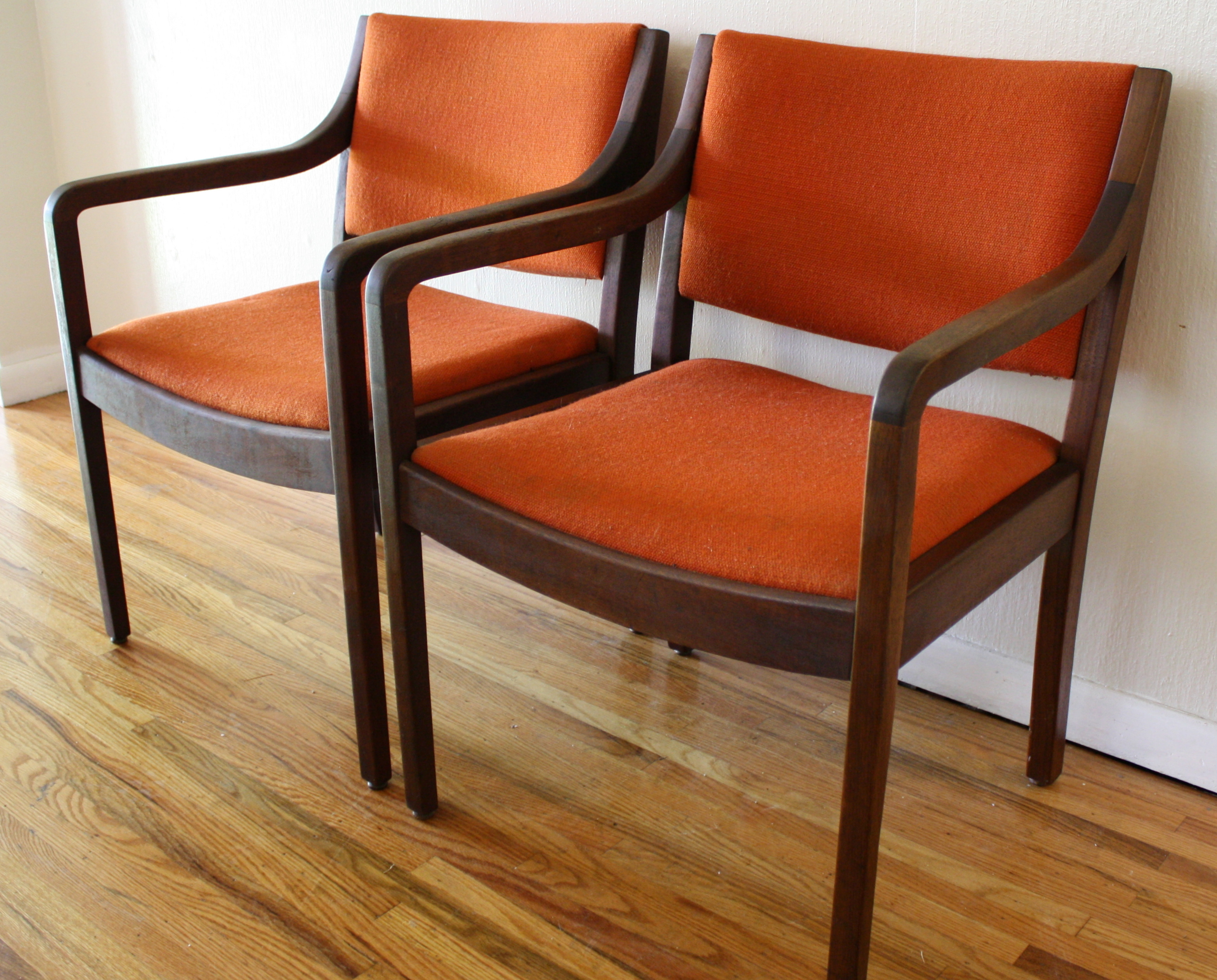 Orange Mid Century Modern Chair Mid Century Modern Chairs With Solid Wood Frames And