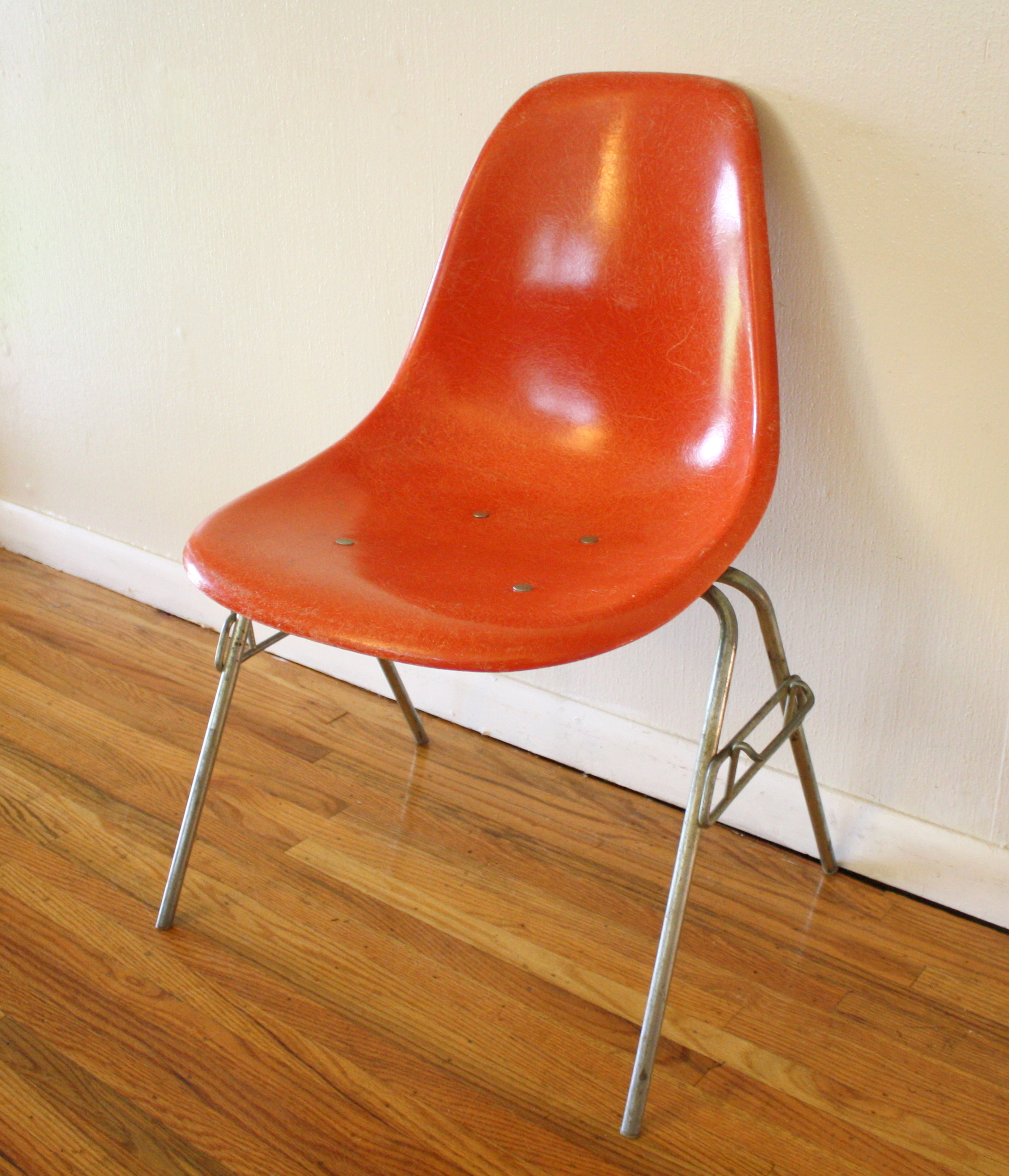 Eames Arm Chair Mid Century Modern Fiberglass Chairs By Herman Miller