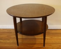 Mid Century Modern Round Coffee Table and Side Table ...