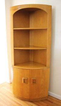 Heywood Wakefield Corner Cabinet, Bench, & Bookshelf ...