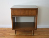 mcm side table with drawer 1 | Picked Vintage