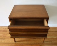 mcm side end table Lane streamlined drawers 3 | Picked Vintage