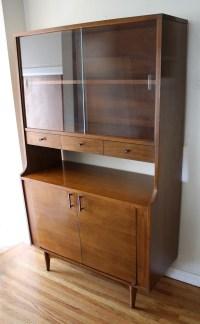 Mid Century Modern Mini China Cabinet Hutch by Kroehler ...