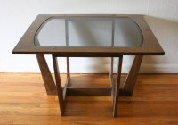 Mid Century Modern Sculpted Side End Tables with Glass ...