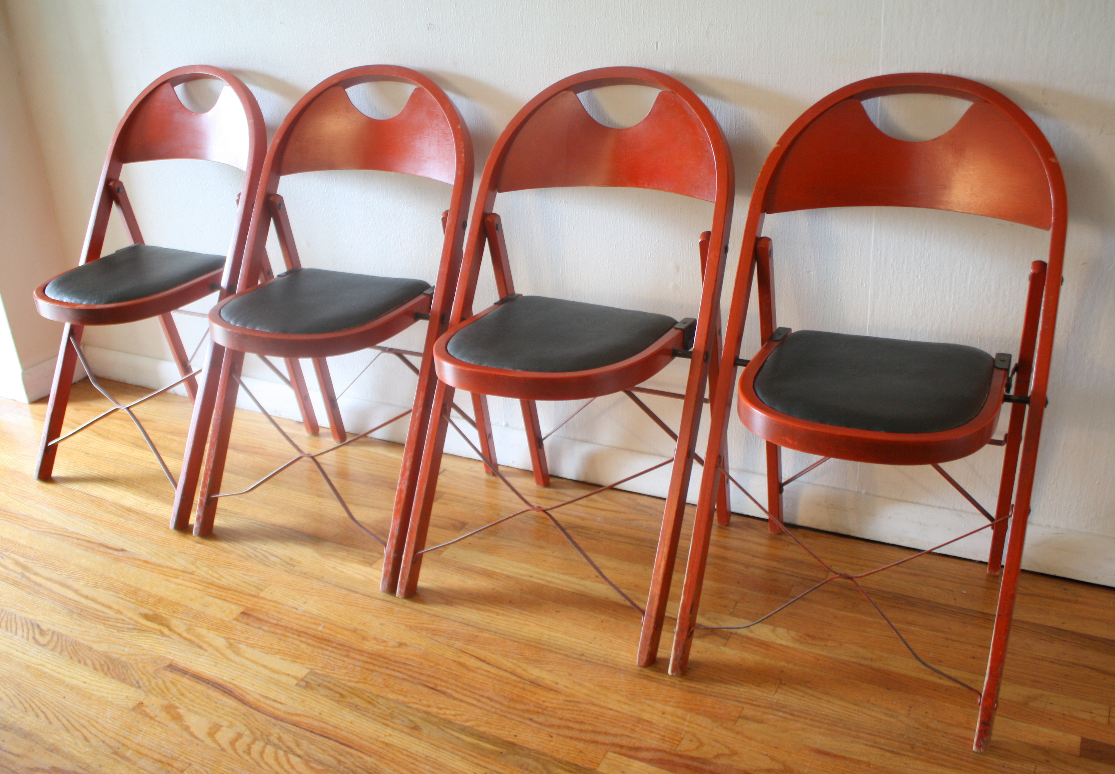 Folding Wooden Chairs Folding Chairs Picked Vintage