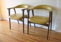 mid century modern yellow chair