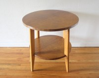 Mid Century Modern Burl Design Side End Table | Picked Vintage