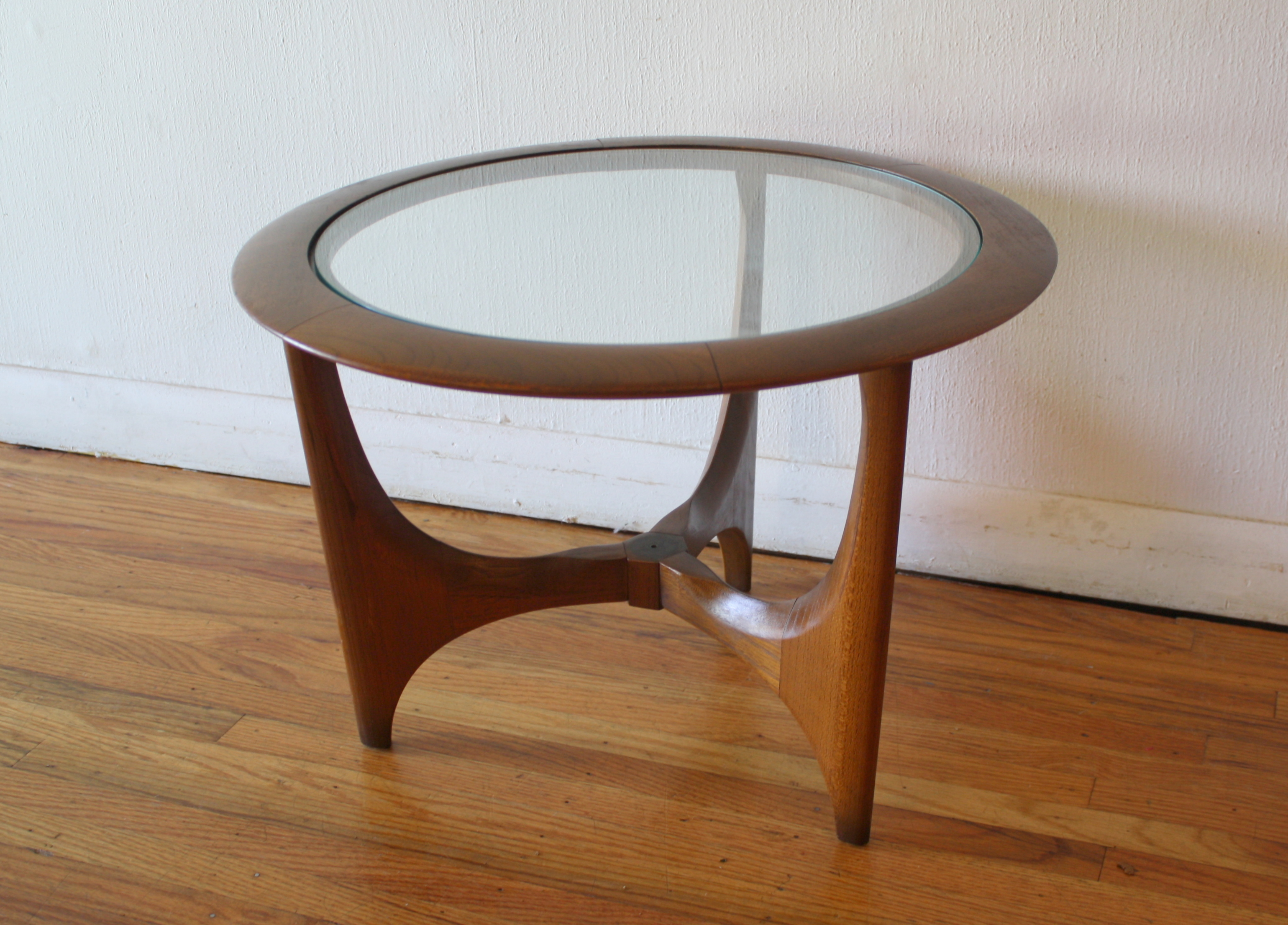 Round Glass Top End Tables Mid Century Modern Side End Table By Lane Picked Vintage